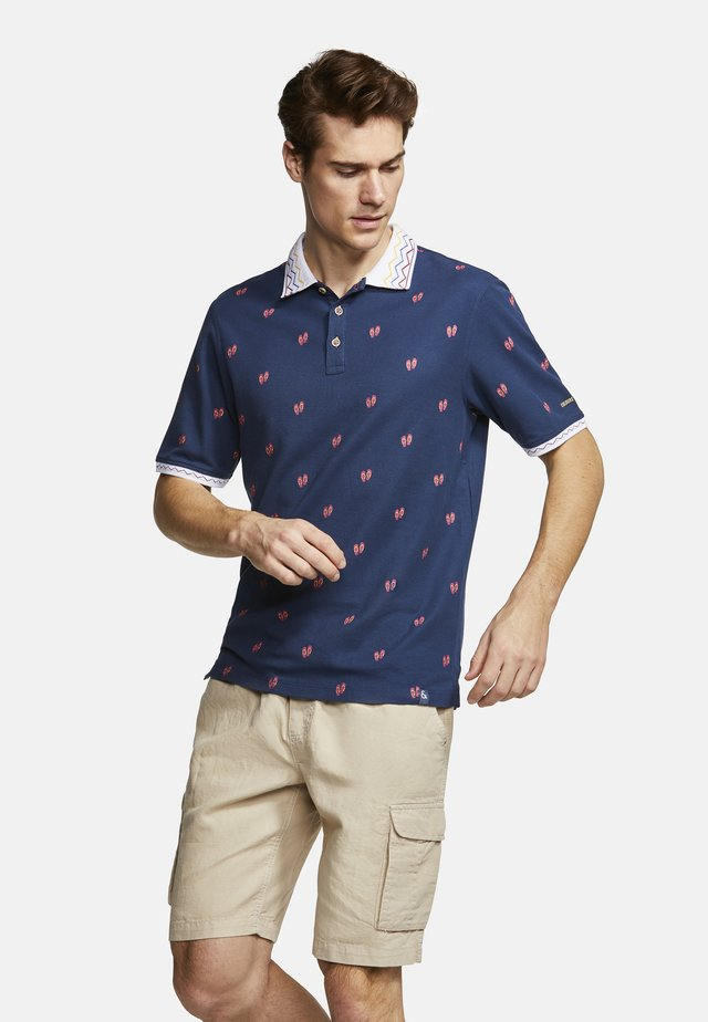 POLOSHIRT POLO PRINT RICHARD - Polo - blue