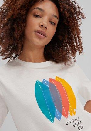 SURFBOARD - Print T-shirt - powder white