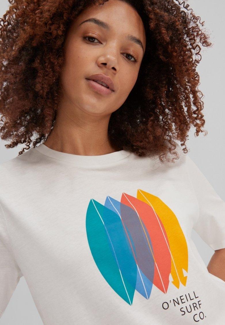 O'Neill - SURFBOARD - Print T-shirt - powder white