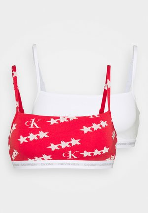 UNLINED BRALETTE 2 PACK - Top - white/red