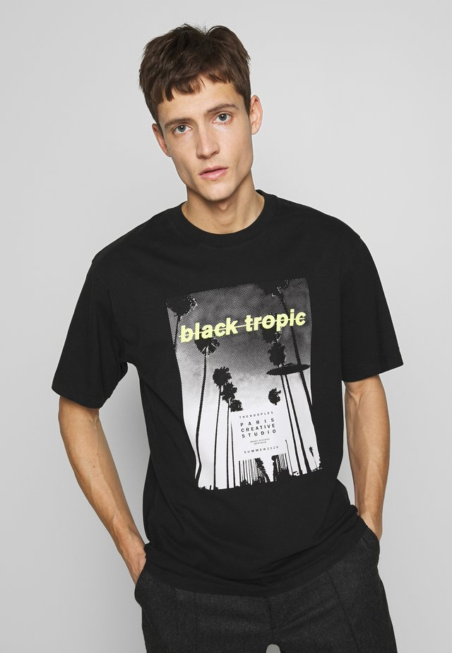 TROPIC - T-shirt con stampa - black