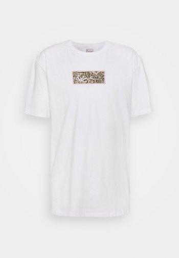 SMALL SIGNATURE BOX TEE UNISEX - Print T-shirt - white