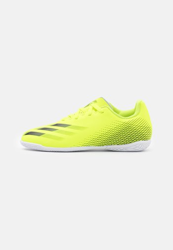 X GHOSTED.4 IN UNISEX - Indoor football boots - solar yellow/core black/royal blue