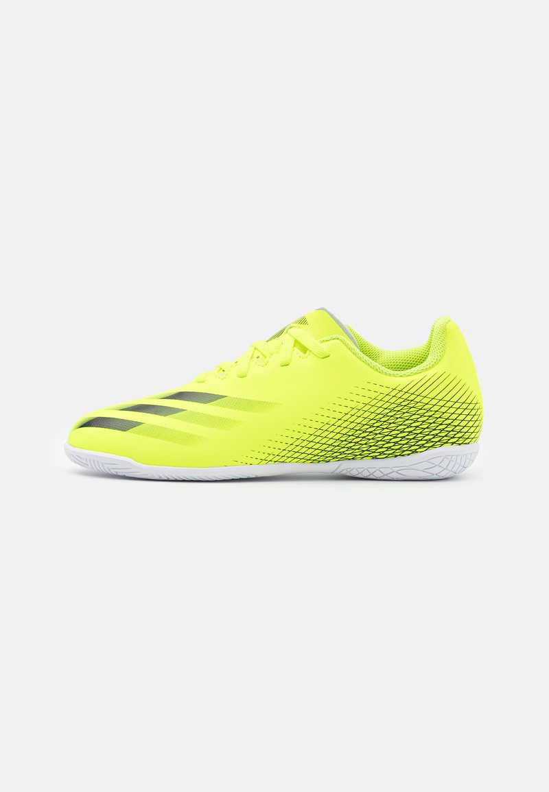 adidas Performance - X GHOSTED.4 IN UNISEX - Indoor football boots - solar yellow/core black/royal blue