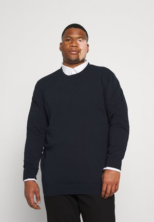 PLAIN O NECK COMFORT FIT - Maglione - navy