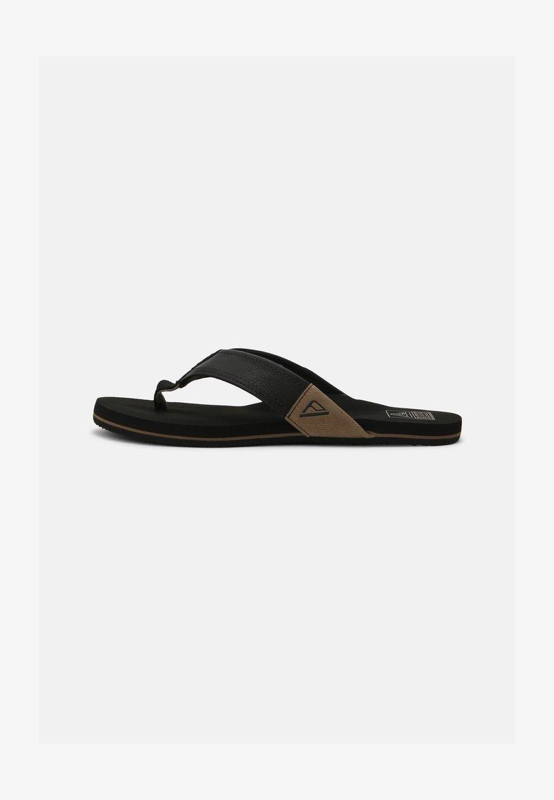 Reef - REEF NEWPORT - T-bar sandals - black