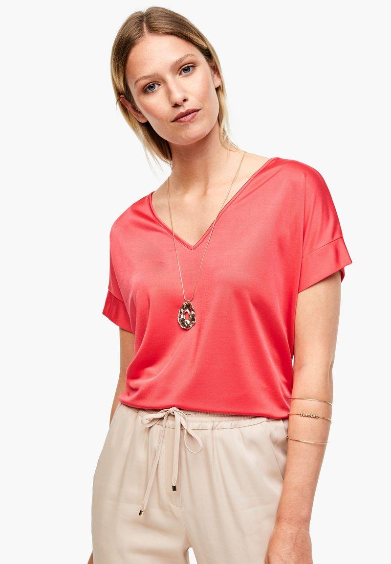 s.Oliver BLACK LABEL - Print T-shirt - popsicle pink