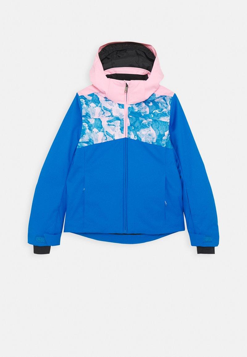 Kjus - GIRLS MILA JACKET - Snowboardová bunda - blue/pink