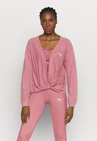 Puma - PAMELA REIF X PUMA COLLECTION OVERLAY CREW - Camiseta de manga larga - mesa rose - 0