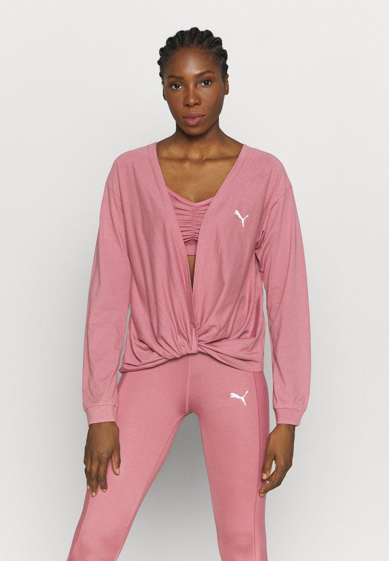 Puma - PAMELA REIF X PUMA COLLECTION OVERLAY CREW - Camiseta de manga larga - mesa rose