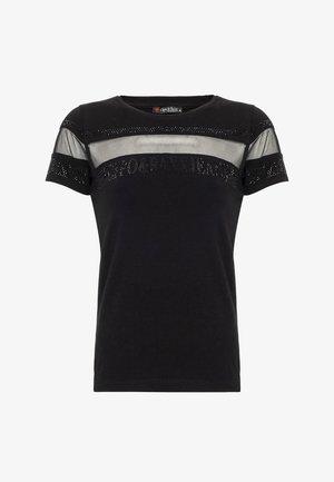 MIT LOGO PAILLETTEN  - Print T-shirt - schwarz