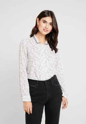 COLLAR DETAILED - Button-down blouse - white multi color