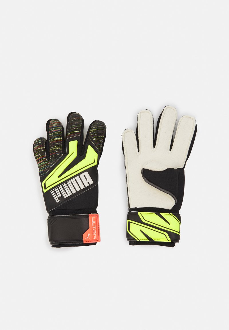 Puma - ULTRA GRIP 1 JUNIOR UNISEX - Goalkeeping gloves - black/yellow alert