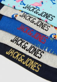 Jack & Jones - JACMIX PATTERN SHORT SOCK 5 PACK - Calcetines tobilleros - light grey melange/navy blazer - 2