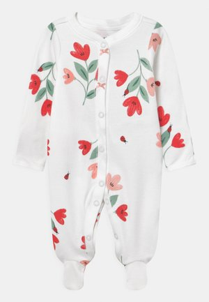 FLORAL - Nattdrakt - white/red