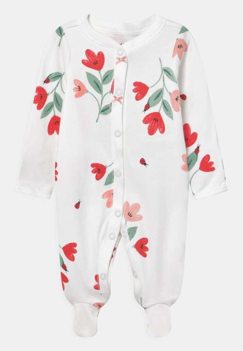 Carter's - FLORAL - Sleep suit - white/red