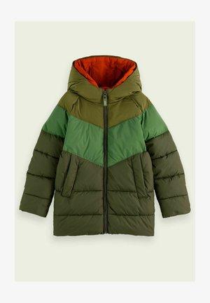 SCOTCH & SODA MILITARY GREEN DOUBLE-HOOD JACKET - Winter jacket - green