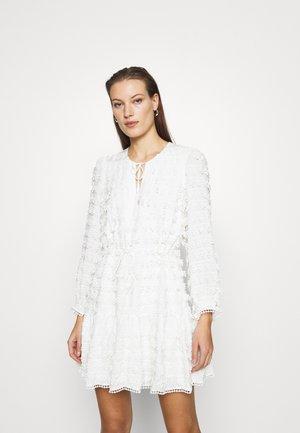 FRINGE DETAIL MINI DRESS - Day dress - cream