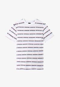 Vans - MN DIMENSIONS STRIPE - Print T-shirt - white - 2
