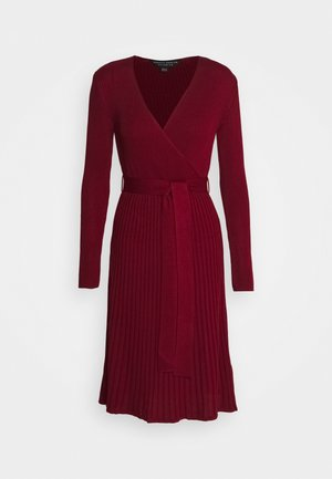 WRAP DRESS - Robe pull - burgundy