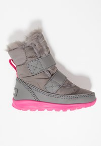 Sorel - WHITNEY VELCRO - Talvisaappaat - quarry/ultra pink - 1
