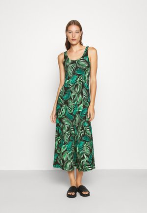 TROPICALSLEEVE TIERED MIDI DRESS - Jersey dress - green