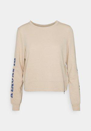 ONPJELLY O-NECK ZIP - Sweatshirt - doeskin