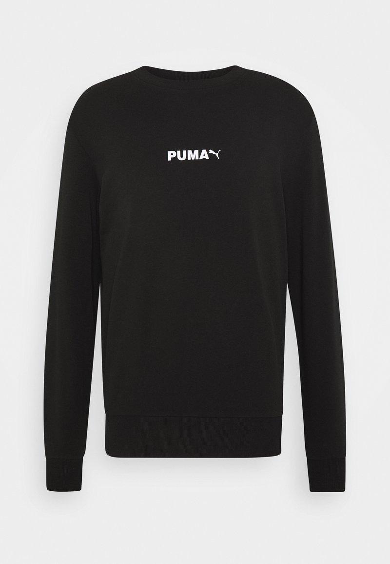 Puma - AVENIR GRAPHIC CREW - Sweatshirt - black
