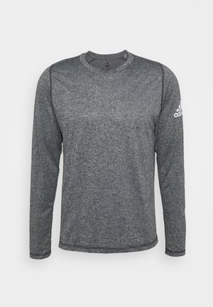AEROREADY LONG SLEEVE - Top s dlouhým rukávem - black/white