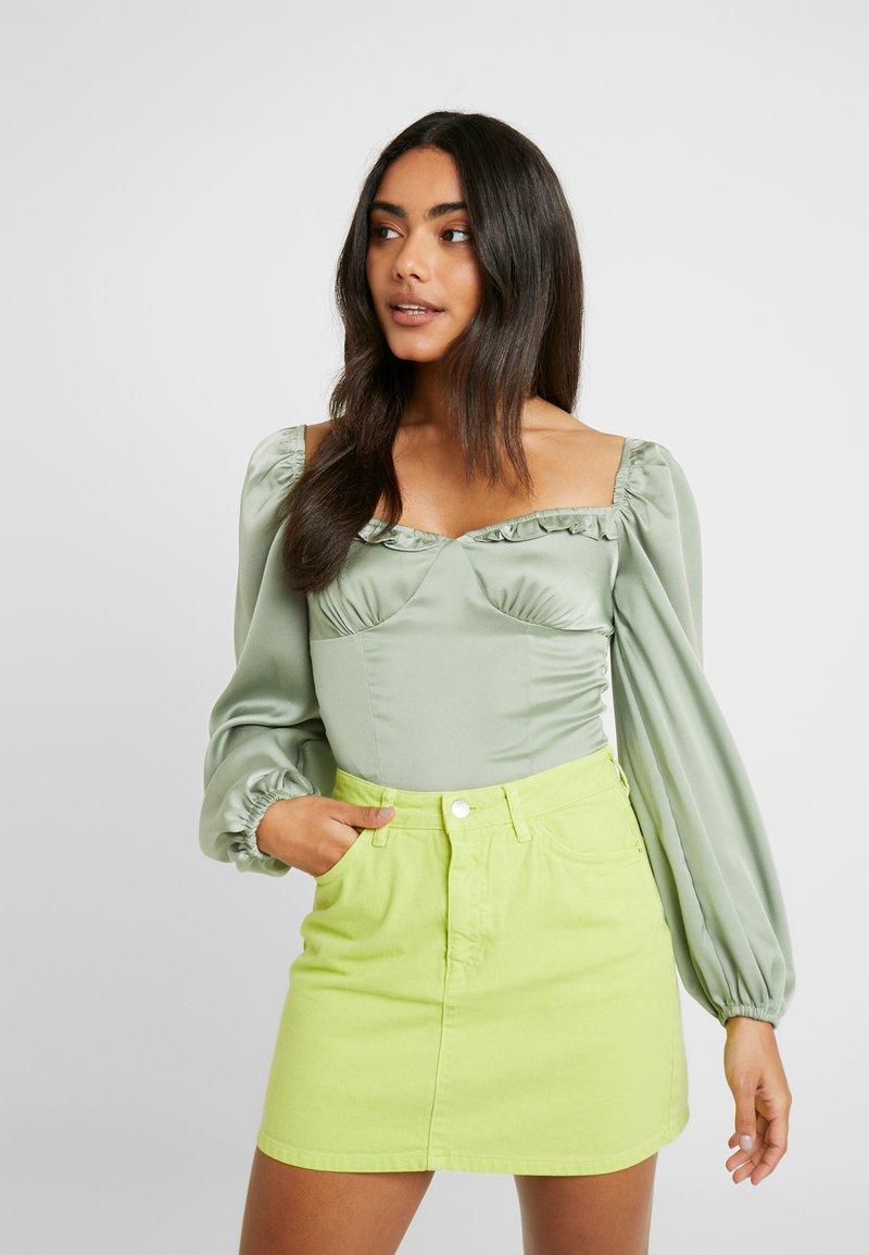 Glamorous Petite - MILKMAID BODYSUIT - Blouse - mint