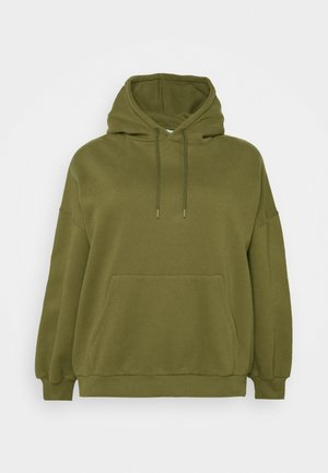 DROP SHOULDER HOODIE - Sweatshirt - khaki
