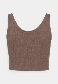 Calvin Klein Jeans - SLUB CROPPED STRAPPY - Top - dusty brown - 1