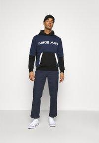 Nike Sportswear - AIR HOODIE - Luvtröja - midnight navy/black - 1