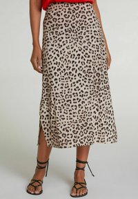 Oui - A-line skirt - light grey camel - 0