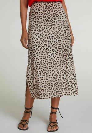 A-line skirt - light grey camel
