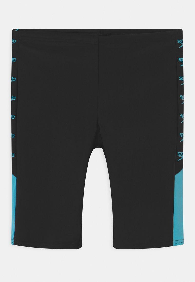 Speedo - BOOM LOGO SPLICE - Swimming trunks - black/light adriatic