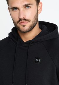Under Armour - RIVAL HOODY - Hoodie - black/black - 5