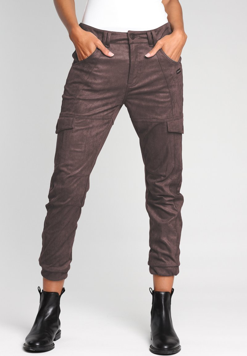 Gang - Cargo trousers - bitter sweet chocolate