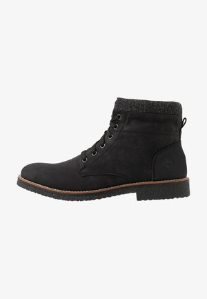 Lace-up ankle boots - schwarz/granit