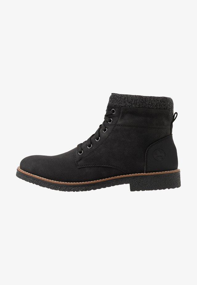 Lace-up ankle boots - schwarz/granit
