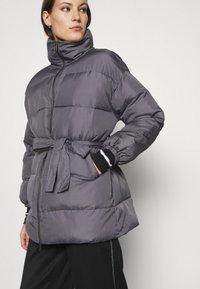 Who What Wear - ZIP FRONT PUFFER JACKET - Winter jacket - slate - 4