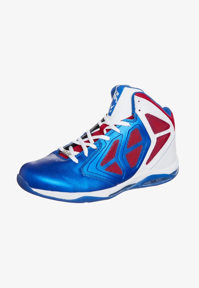 PRIME MID - Basketball shoes - royal/red white