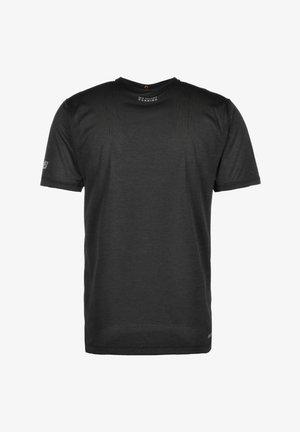 NEW BALANCE PRINTED IMPACT LAUFSHIRT HERREN - T-shirt z nadrukiem - shiny black