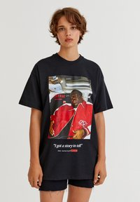PULL&BEAR - THE NOTORIOUS BIG  - T-shirt con stampa - black - 0