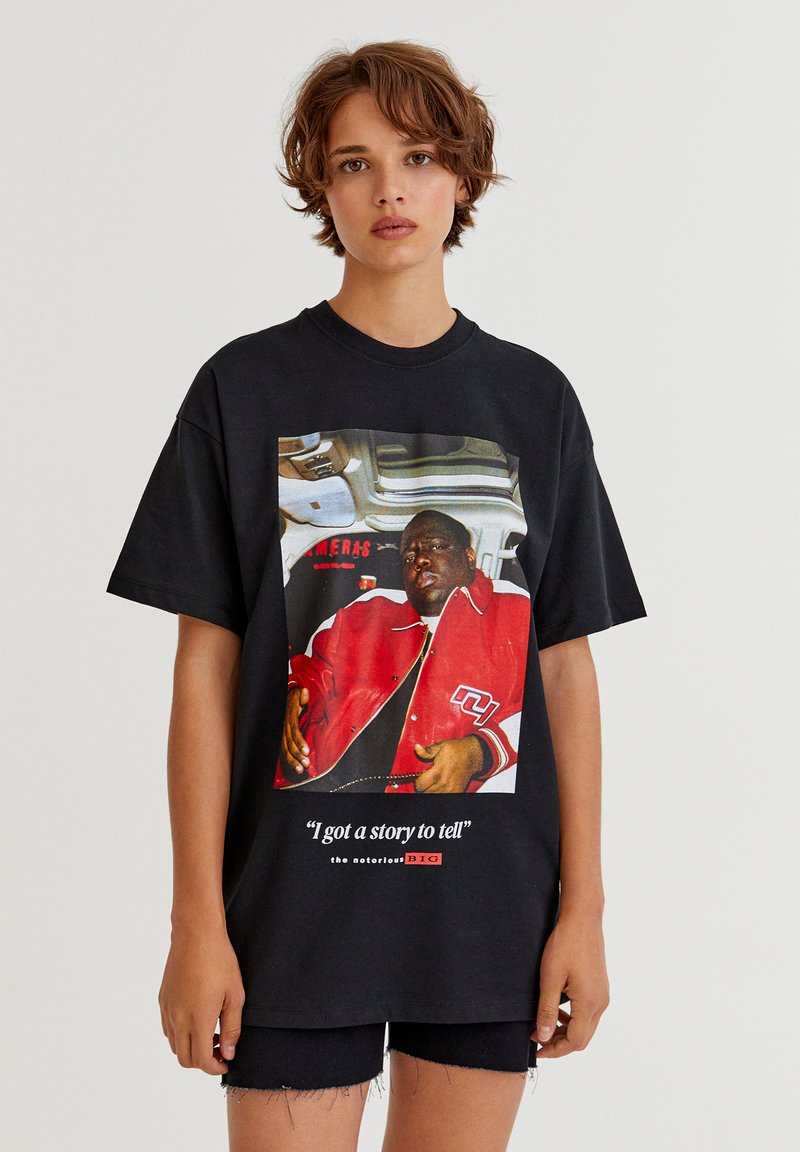 PULL&BEAR - THE NOTORIOUS BIG  - T-shirt con stampa - black
