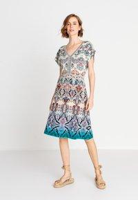 Ivko - JACQUARD DRESS, - Day dress - blue/beige - 1