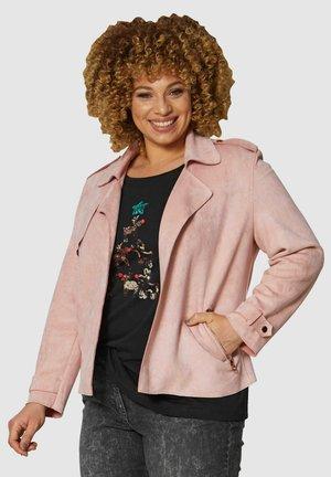 Faux leather jacket - rosé