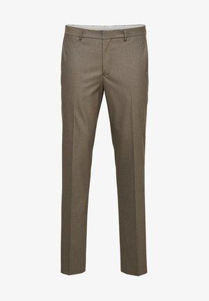 SLIM FIT - Suit trousers - sand