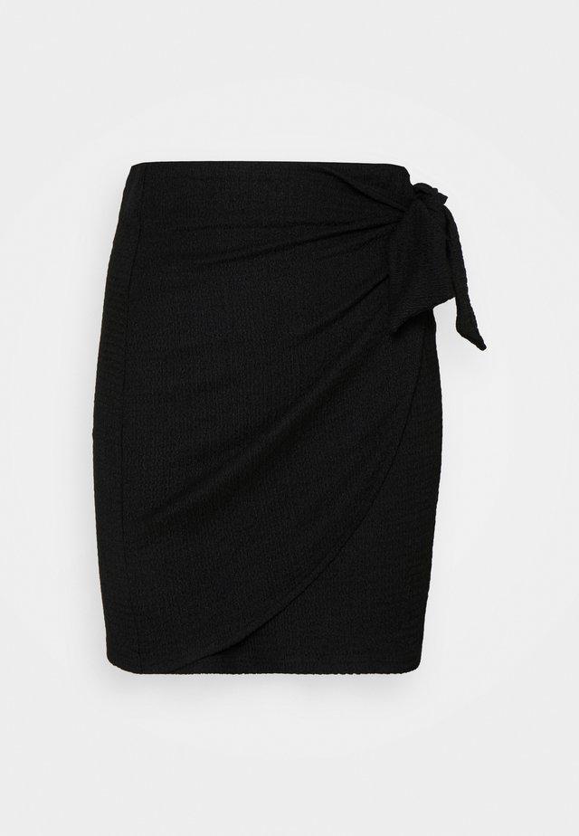 ALIA SKIRT - Mini skirt - schwarz