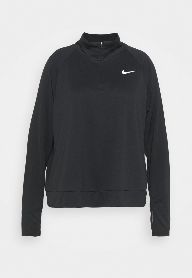 Nike Performance - PACER - Long sleeved top - black/silver
